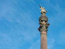 Christopher Columbus Statue in Barcelona, Spain Royalty Free Stock Images