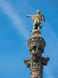 Christopher Columbus Statue in Barcelona, Spain Stock Photography