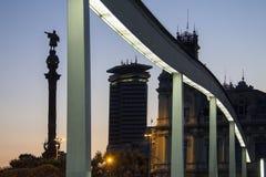 Christopher Columbus Statue - Barcelona - Spanien Lizenzfreies Stockbild