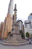 Christopher Columbus Statue en New York City imagen de archivo