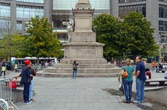 Christopher Columbus Statue en New York City foto de archivo libre de regalías