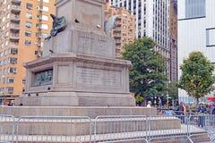 Christopher Columbus Statue en New York City imagenes de archivo