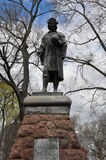 Christopher Columbus Statue in New Haven, Connecticut Royalty Free Stock Image