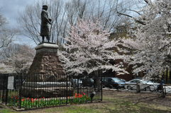 Christopher Columbus Statue in New Haven, Connecticut Stock Photos