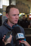 Christopher Froome arriving in Montreal for second leg of the GP Royalty Free Stock Image