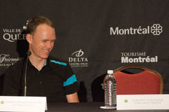 Christopher Froome at the elite press conference of GPCQM, Quebe Royalty Free Stock Images