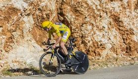 Christopher Froome, procès individuel de temps - Tour de France 2016 photos stock