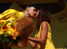 Christopher Froome Team Sky Tour de France 2015 Royalty Free Stock Images