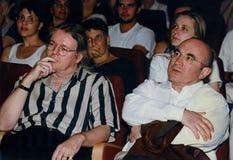 Christopher Hampton και Μπομπ Χόσκινς Στοκ φωτογραφία με δικαίωμα ελεύθερης χρήσης
