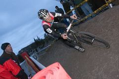 Christopher Jones - Pro Cyclocross Racer Stock Photography