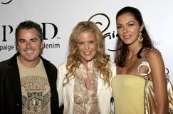 Christopher Knight, Paige Adams-Geller and Adrianne Curry Royalty Free Stock Photography