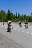 Christopher Legh in the Coeur d' Alene Ironman cycling event Royalty Free Stock Images