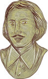 Christopher Marlowe Bust Drawing Stock Photo