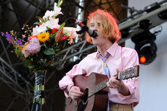 Christopher Owens, lead singer of Girls band, performs at San Miguel Primavera Sound Festival Stock Images