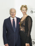 Christopher Plummer and Janet McTeer at 2017 Tribeca Film Festival. Celebrated Canadian actor Christopher Plummer and his talented British co-star, Janet Royalty Free Stock Photography