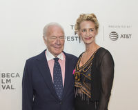 Christopher Plummer and Janet McTeer at 2017 Tribeca Film Festival Stock Photography