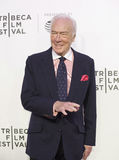 Christopher Plummer at 2017 Tribeca Film Festival Premiere of `The Exception.`. Celebrated Canadian actor Christopher Plummer arrives for the 2017 Tribeca Stock Images