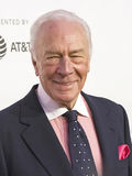 Christopher Plummer. Celebrated Canadian actor Christopher Plummer arrives for the 2017 Tribeca Film Festival Premiere of `The Exception,` at the Tribeca stock image