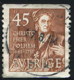 Christopher Polhem Στοκ Εικόνα
