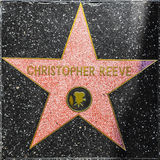 Christopher Reeves star on Hollywood Walk of Fame Royalty Free Stock Photo