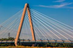 Kansas City cable stay bridge stock photography