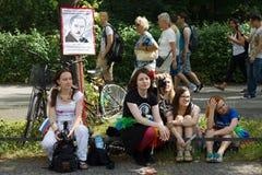 Christopher Street Day in Berlijn duitsland Stock Afbeelding