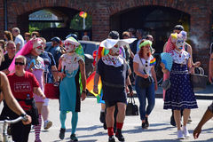 Christopher Street Day in Luebeck, northern Germany, costumed me Stock Photography