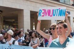 Christopher Street Day Munich 2015 - révolution Photos stock