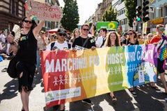 Christopher Street Day 2016 in Stuttgart, Duitsland Stock Foto