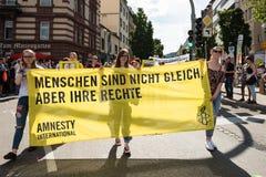 Christopher Street Day 2016 in Stuttgart, Duitsland Royalty-vrije Stock Afbeeldingen