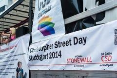 Christopher Street Day 2014 a Stuttgart, Germania Fotografia Stock Libera da Diritti