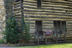 Christopher Taylor Historical Log Cabin photographie stock
