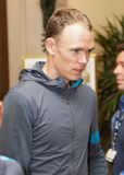 Christpher Froome arriving in Québec for Pro Tour cycling event Stock Photos