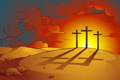 耶稣Christs在十字架上钉死 免版税图库摄影
