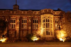 Christs College in Christchurch. At night, Canterbury, South Island,  New Zealand Stock Photos