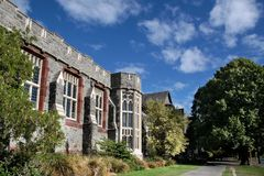 Christs College in Christchurch. Canterbury, South Island,  New Zealand Stock Photo
