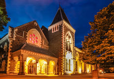 Christs College in Christchurch at night Royalty Free Stock Photo