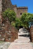 Christs Gate, Alcazaba de Malaga, Spain. Christs Gate (Torre del Cristo) at the Alcazaba de Malaga, Malaga, Costa del Sol, Malaga Province, Andalusia, Spain Stock Photos