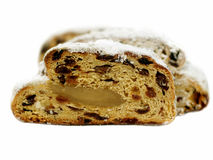 Christstollen - het traditionele Duitse brood van Kerstmis Stock Foto's