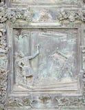 Christus bekroonde met doornen stock foto's