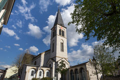 Christus church boppard germany. The christus church boppard germany royalty free stock images