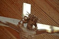 Christus on the cross close up background. Christus on the cross close up royalty free stock images