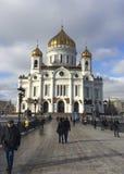 Christus de Kathedraal van de Verlosser, Moskou Stock Fotografie