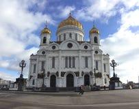 Christus de Kathedraal van de Verlosser, Moskou Stock Foto