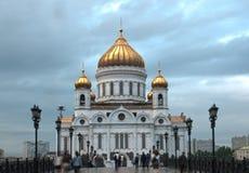 Christus de Kathedraal van de Verlosser in Moskou De stads` s aantrekkelijkheden Architectuur Royalty-vrije Stock Afbeeldingen