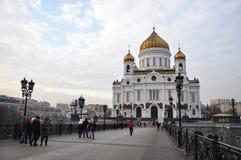 Christus de Kathedraal van de Verlosser Rusland moskou Stock Fotografie