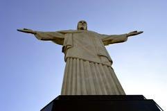 Christus de Verlosser Corcovado in Rio de Janeiro Stock Foto