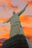 Christus de Verlosser in Rio de Janeiro Stock Fotografie