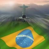 Christus de Verlosser - Rio de Janeiro - Brazilië royalty-vrije stock fotografie