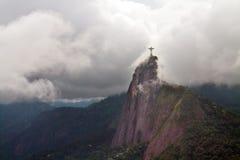 Christus de Verlosser in wolken, Rio Royalty-vrije Stock Afbeeldingen